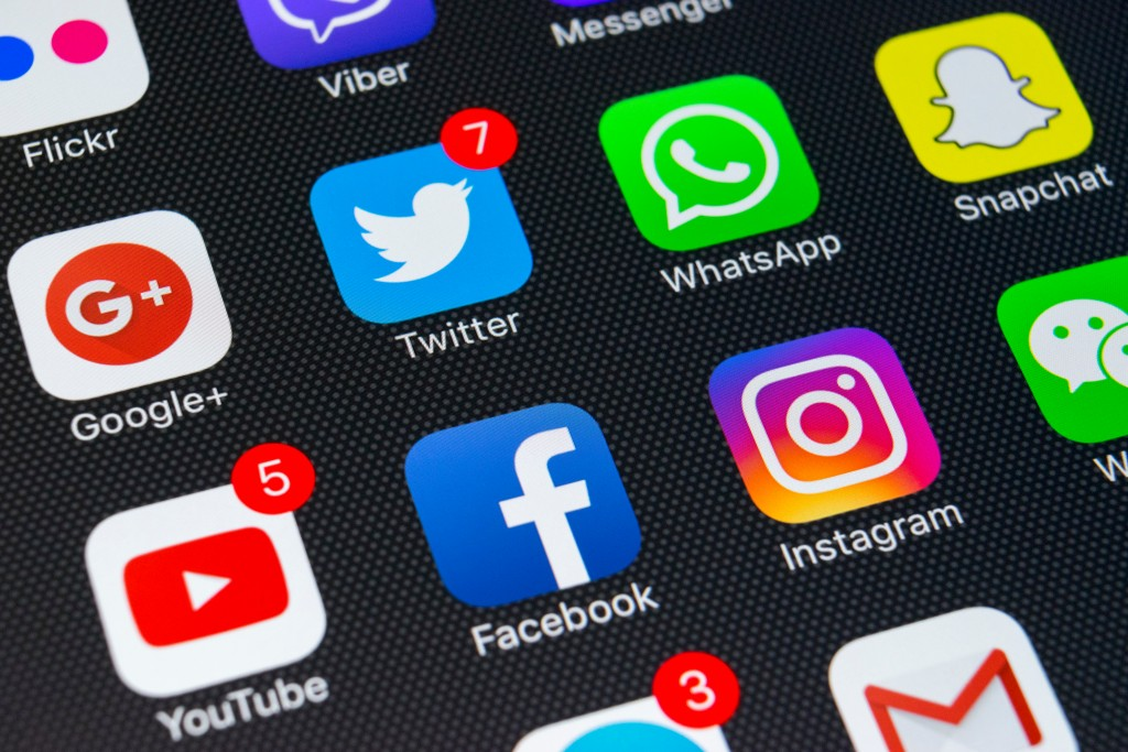 close up photo of social media apps on a phone