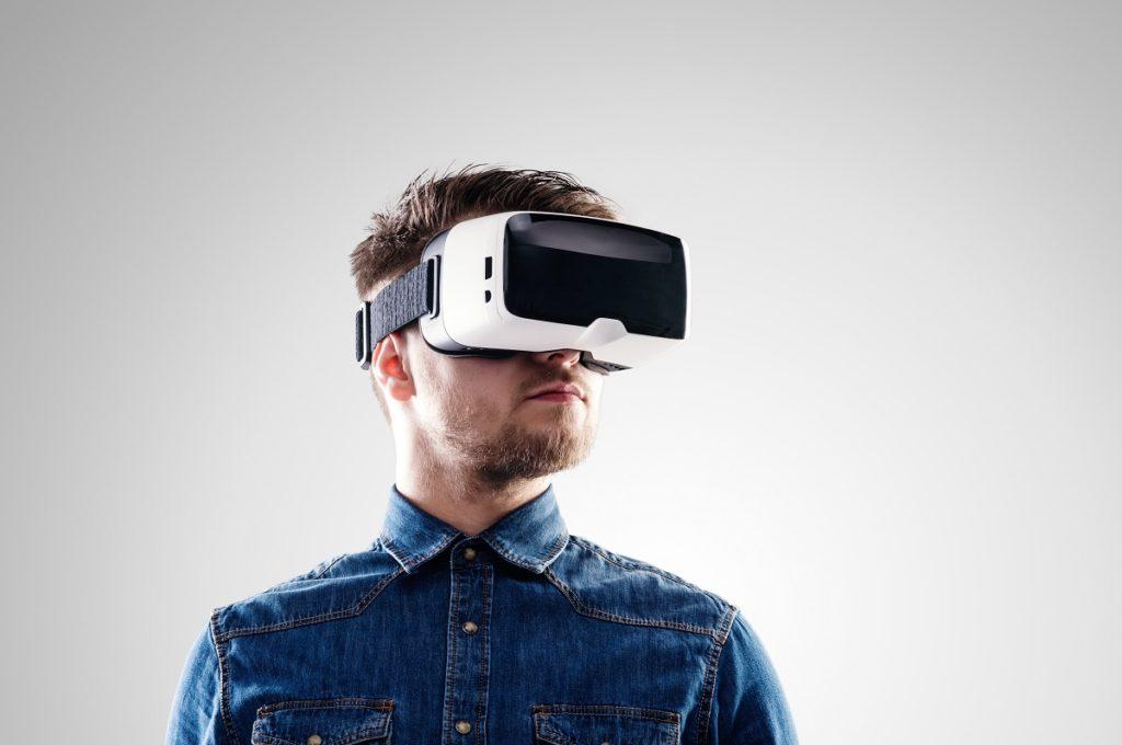 man using a VR
