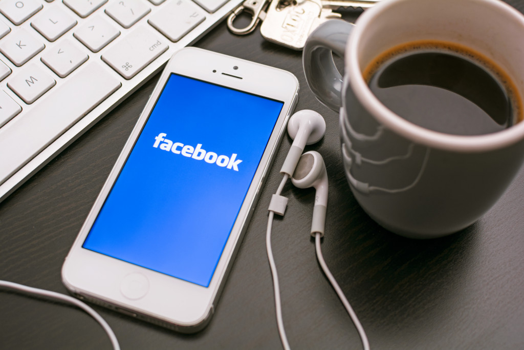 facebook on a smartphone