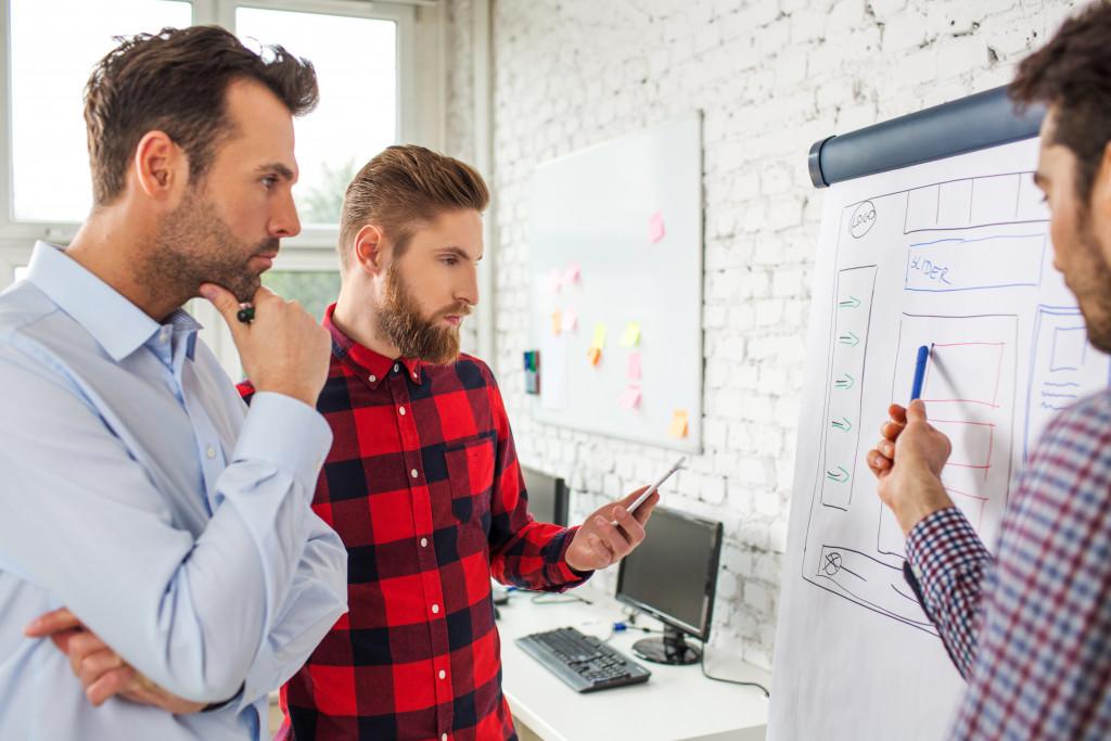 men designing an online platform